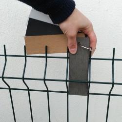 Testez nos lattes d'occultation composite sur votre clôture