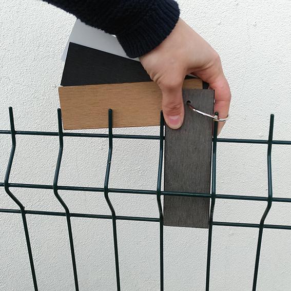 Je teste mon kit échantillon sur ma clôture