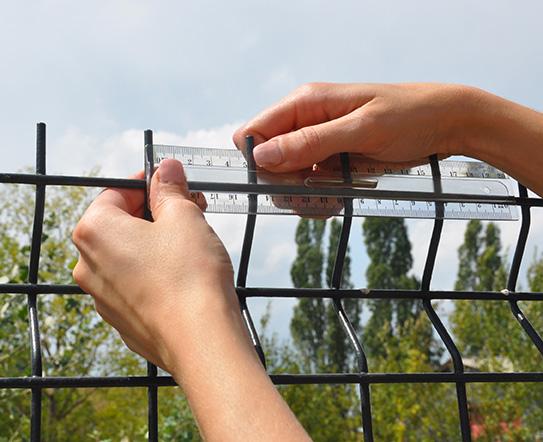 Mesure maille clôture