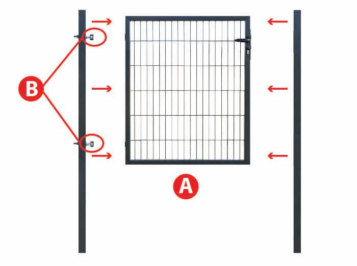 montage portillon pour clôture